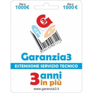 Garanzia3 - Estensione del Servizio Tecnico Fino a 1000 Euro