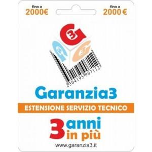 Garanzia3 - Estensione del Servizio Tecnico Fino a 2000 Euro