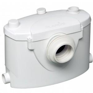 Planus - Sanibasic trituratore wc 230 v bianco cassetta trituratrice con attacchi e tappi di chiusura