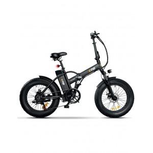 """Icone E-Bike Rider Matt Black Ruote 20x4"""" Batteria Litio 36V 10Ah Max 25km/h"""