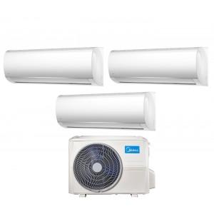 Climatizzatore Condizionatore Midea Trial Split Inverter serie RIGHT 9+9+12 con M3OF-27HFN8-Q R-32 Wi-Fi Optional 9000+9000+12000 (Angolo delle Occasioni)