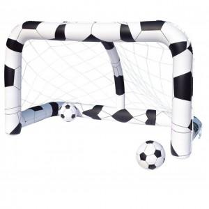 Porta da calcio Gonfiabile + 2 palloni Gioco Piscina Giardino casa bambini 34860