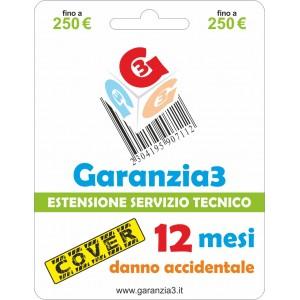 Garanzia3 Cover Estensione Servizio Tecnico Fino a 250