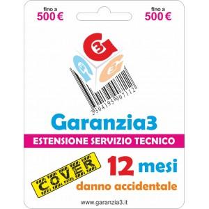 Garanzia3 Cover Estensione Servizio Tecnico Fino a 500