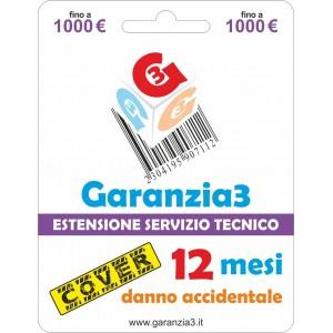 Garanzia3 Cover Estensione Servizio Tecnico Fino a 1000