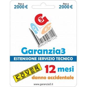 Garanzia3 Cover Estensione Servizio Tecnico Fino a 2000