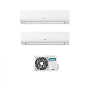 Climatizzatore Condizionatore Hisense Dual Split Inverter serie NEW ENERGY 12+18 con 3AMW72U4RFA R-32 Wi-Fi Integrato 12000+18000