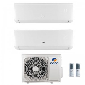 Climatizzatore Condizionatore Gree Dual Split 9+9 Serie Bora Plus Gwhd(18) Gas R32 9000+9000 Btu