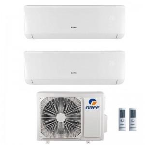 Climatizzatore Condizionatore Gree Dual Split 9+12 Serie Bora Plus Gwhd(18) Gas R32 9000+12000 Btu