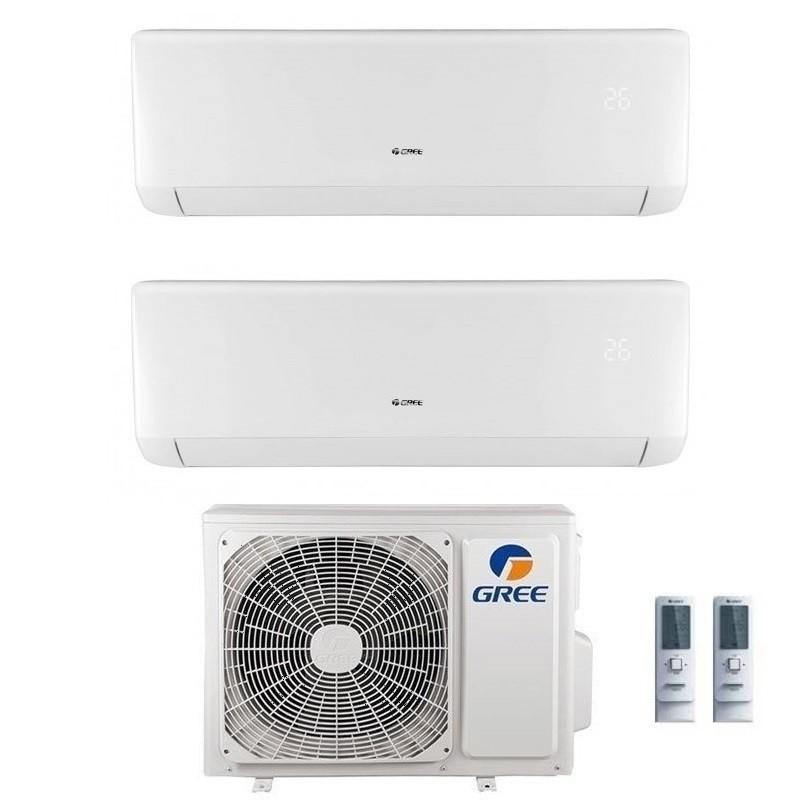 Climatizzatore Condizionatore Gree Dual Split 12+12 Serie Bora Plus Gwhd(18) Gas R32 12000+12000 Btu