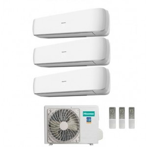 Climatizzatore Hisense Trial Split Inverter Serie Mini Apple Pie 9+9+12 Con Amw3-24u4sad1